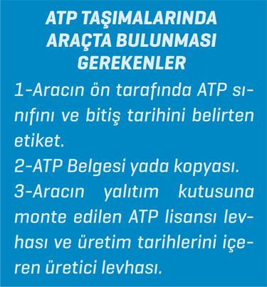 ATP Taşımalarında Araçta Bulunması Gerekenler