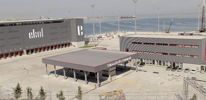 Ekol Yalova Ro-Ro Terminali'ni Devreye Aldı