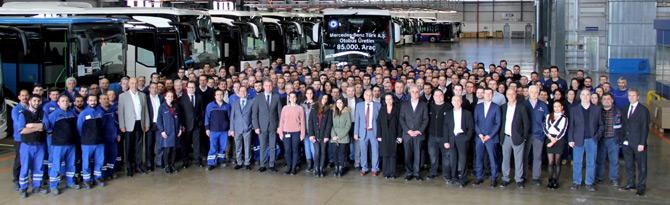 Mercedes-Benz Türk, 85 Bininci Otobüsü Banttan İndirdi