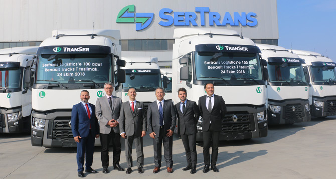 Sertrans Filosuna 100 Adet Renault Trucks