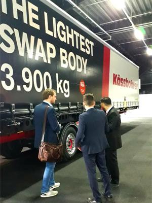 Tırsan Avrupa'nın En Hafif Swap Body Aracını Trans-Log Fuarı'nda Sergiledi