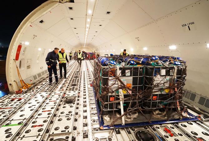 Turkish Cargo 1 Buçuk Milyon Canlı Balığı Umman'a Taşıdı