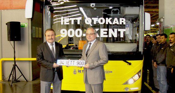 Otokar İETT'nin 900'üncü Otobüsünü Banttan İndirdi
