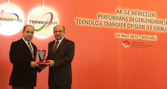 Otokar'a 'En Başarılı Ar-Ge Merkezi' Ödülü