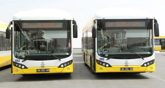 TCV CNG ve Dizel Otobüslerini Sergiledi