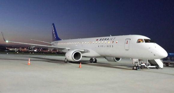 Borajet'in İlk E190 Jet Uçağı Sabiha Gökçen'e İndi