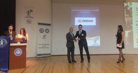 Ege Üniversitesi İşletme Kulübü'nden Omsan'a Ödül