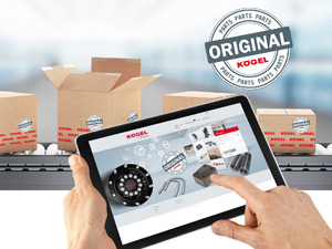 Optimised Kögel Parts Shop with new intelligent warranty management