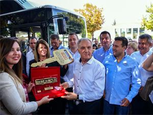 Anadolu Isuzu'dan Makedonya'ya CNG'li Citiport Teslimatı