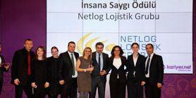 Netlog Lojistik Grubu'na 'İnsana Saygı' Ödülü