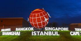 Türk Hava Yolları'nın Dev Küresi Heatrow'da