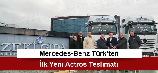 Mercedes-Benz Türk'ten İlk Yeni Actros Teslimatı