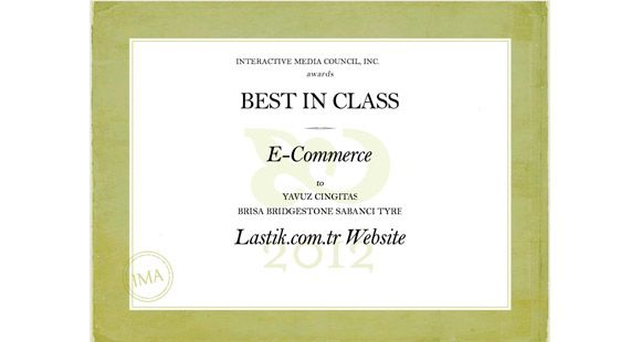 Brisa 'lastik.com.tr' Hizmetiyle 'Sınıfının En İyisi' Seçildi