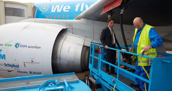 KLM Bitkisel Yağla Uçtu
