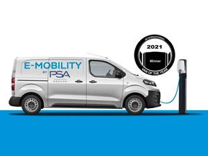 2021 Uluslararası Yılın Ticari Aracı Ödülü (IVOTY) PSA'nın Elektrikli Modellerine