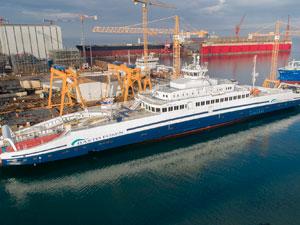 Sefine Tersanesi Tarafından Üretilen Dünyanın En Büyük Elektrikli Feribotu Norveç Sularında
