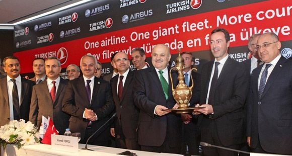 THY 117 Uçağı Filosuna Katacak Olan Anlaşmayı Airbus ile İmzaladı