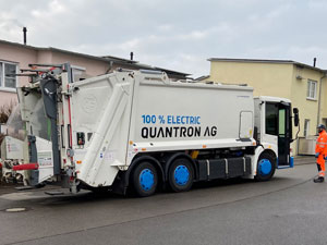 Successful test in Ulm with electric waste collection vehicle from Quantron AG