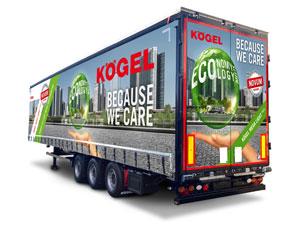 Kögel Mega Lightplus combines a large cargo volume with maximum payload