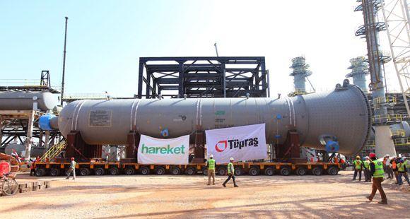 Hareket Tüpraş İçin 918 Tonluk Dev Reaktörü Taşıdı