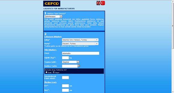 Gefco 'Anında Teklif' Sistemini Hayata Geçirdi