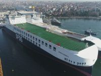 Mega Ro-Ro Gemisi Türk Bayrağı'yla Sefere Çıktı