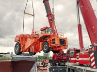 Superlative slab transporter: hot iron on the road