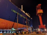 UECC floats first of three LNG battery hybrid PCTCs