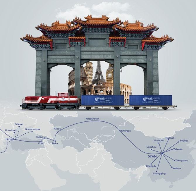 Arkas Lojistik Çin-Türkiye Demir İpek Yolu'ndan Avrupa'ya Marmaray Bağlantısı İle Servis Başlattı