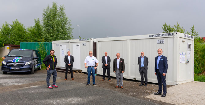 New sanitary containers at GVZ Bremen Initiative #Logistikhilft with next action
