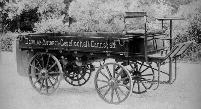 ilk daimler kamyonu