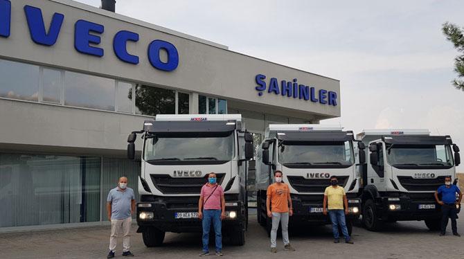 Iveco yetkili satıcısı Şahinler Otomotiv 3 adet Trakker'ı Kormad Madencilik firmasına teslim etti
