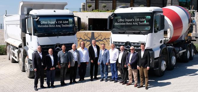 Mercedes-Benz Çiftay İnşaat'a 150 Adet Araç Teslim Etti