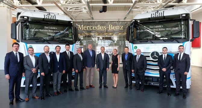 Mercedes-Benz Türk'ten Ekol Lojistik'e 150 Adetlik Dev Teslimat