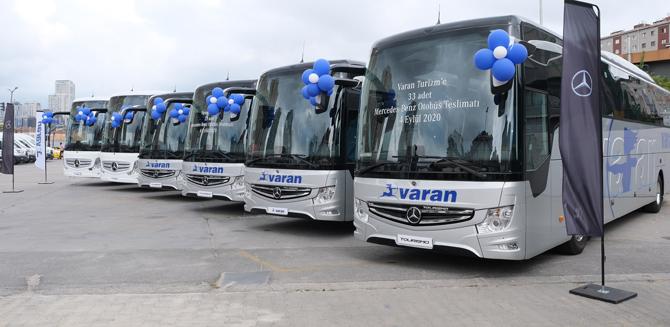 Mercedes-Benz Türk'ten Varan Turizm'e 33 Otobüs