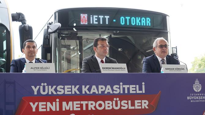 İETT Genel Müdürlüğü tarafından açılan 100 adetlik metrobüs alımı için Otokar'ın kazandığı ihalenin imzaları atıldı.