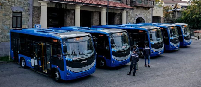 117 Adet Otokar Sultan LF Otobüs Allison Tam Otomatik Şanzıman Donanımıyla Gürcistan'a Teslim Ediliyor