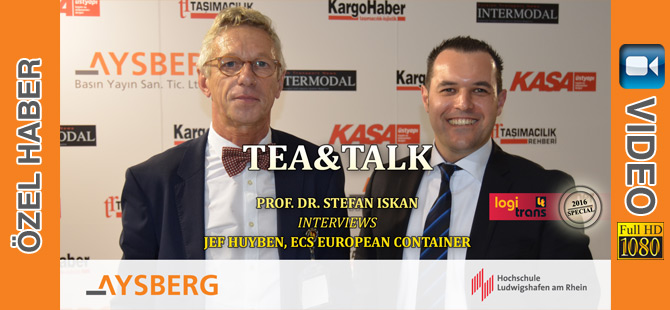 Tea & Talk logitrans 2016: Prof. Dr. Stefan Iskan interviews Jef Huyben, ECS European Container Tea & Talk logitrans 2016: Prof. Dr. Stefan Iskan interviews Jef Huyben, ECS European Container