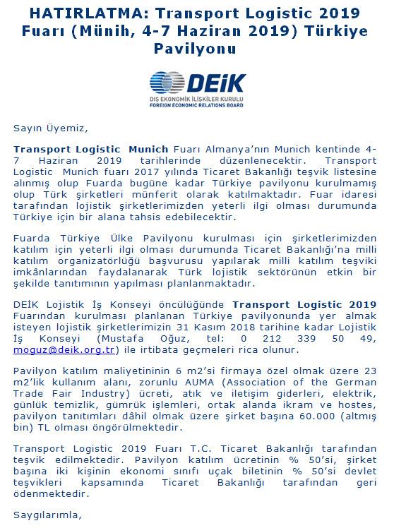 Türk Lojistikçilerin Almanya Çıkartması