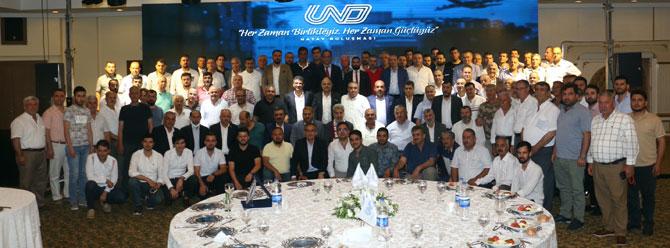 UND Yönetim Kurulu Başkanı Çetin Nuhoğlu, Sektör Değerlendirme Toplantısı kapsamında 15 Haziran'da Hataylı nakliyecilerle bir araya geldi.