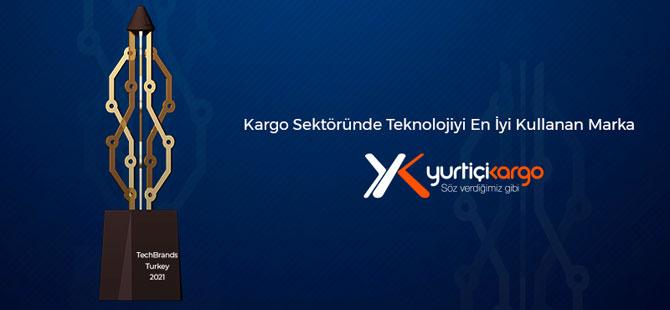 Tech Brands Türkiye'nin En Teknolojik Kargo Şirketi Ödülü Yurtiçi Kargo'nun